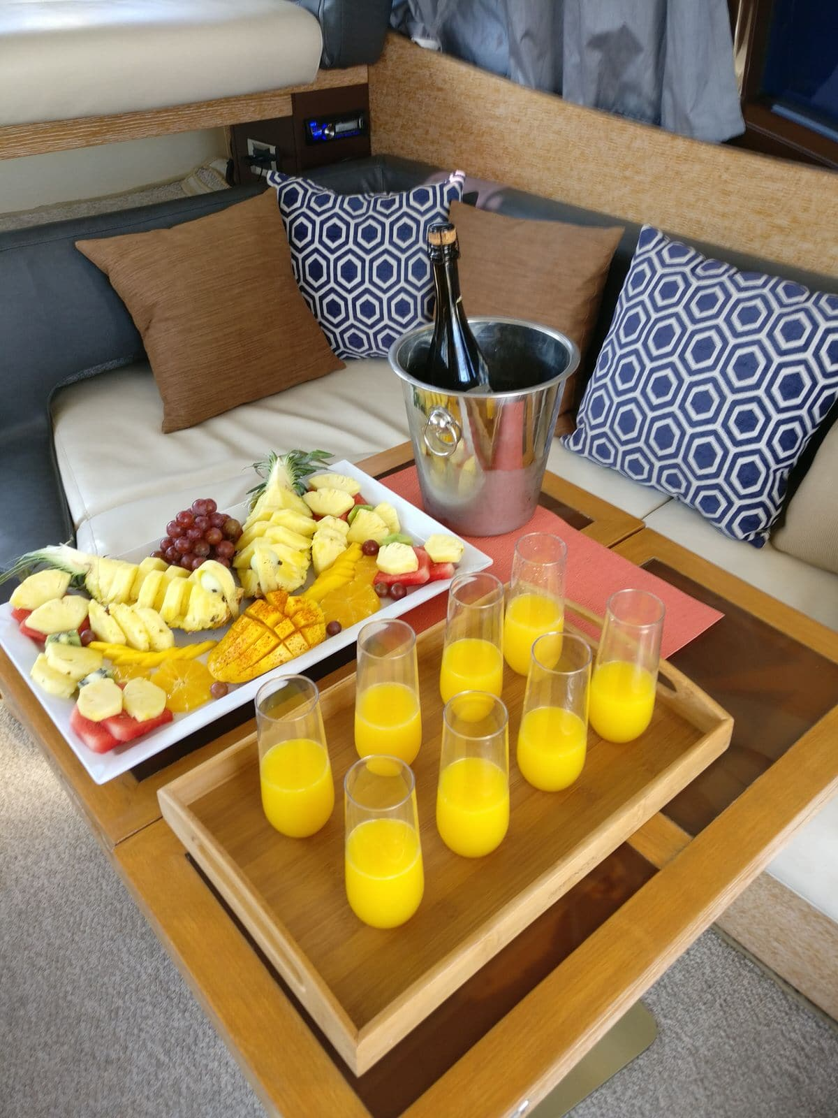 Mimosas and Fruit in Cabo